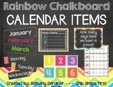 Chalk it Up! Rainbow Chalkboard Calendar Materials