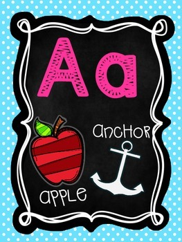 Chalkboard and Brights Classroom Alphabet