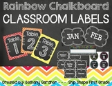 Chalk it Up! Rainbow Chalkboard Classroom Labels