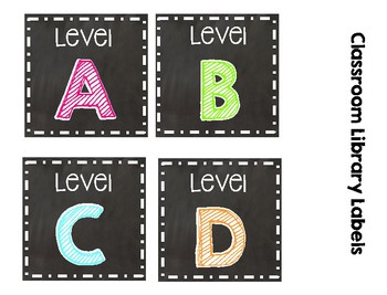 Chalkboard and Brights Classroom Library Labels * Fits Target labels*
