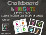 Chalkboard and Brights Classroom Library Labels * Fits Tar