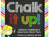 Chalk it Up! Rainbow Chalkboard Classroom Decor Pack