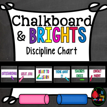 Chalkboard and Brights Discipline Chart