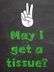 Chalkboard and Brights Hand Signal Posters