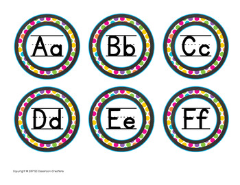 Chalkboard and Brights Labels and Signs-Classroom Decor