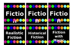 Chalkboard and Brights Themed Book Bin Labels *EDITABLE*