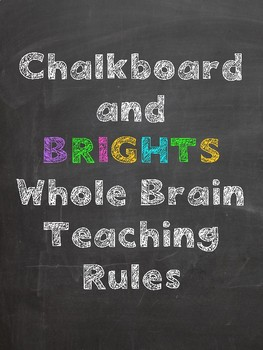Chalkboard and Brights Whole Brain Teaching Rules