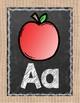 Chalkboard and Burlap Alphabet