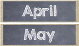 Chalkboard and Burlap Calendar and Weather Set
