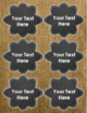 Chalkboard and Burlap Classroom Labels Decorations Editable Powerpoint