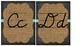 Chalkboard and Burlap Cursive Alphabet