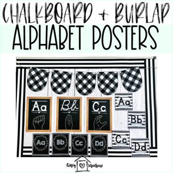 Chalkboard and Burlap Decor Bundle