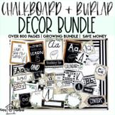 Chalkboard and Burlap Decor Bundle   Over 800 Pages   Growing Bundle   Extras