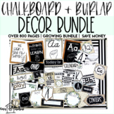 Chalkboard and Burlap Decor Bundle | Over 800 Pages | Grow