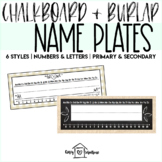 Chalkboard and Burlap Desk Name Tags