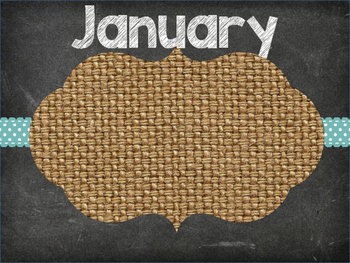 Chalkboard and Burlap Months for Birthdays