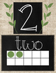 Chalkboard and Burlap Number Posters