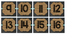 Chalkboard and Burlap Numbers 1-24