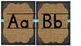 Chalkboard and Burlap Print Alphabet