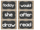 Chalkboard and Burlap Word Wall Cards and Headers *New Editable
