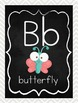 Chalkboard and Chevron Alphabet Line: Print Cute Animals