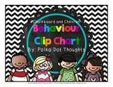 Chalkboard and Chevron Behaviour Clip Chart