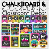 Chalkboard & Chevron Decor Bundle - Classroom Jobs, Labels, Word Wall & more!