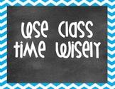 Chalkboard and Chevron Editable Classroom Posters