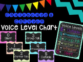 Chalkboard and Chevron Voice Level Chart