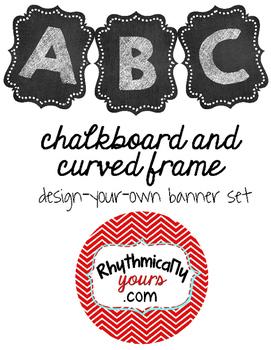 Chalkboard and Curved Frame Design Banner