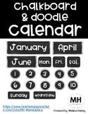 Chalkboard and Doodle Calendar