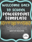 Chalkboard and Dots Back to School Powerpoint Template-EDITABLE