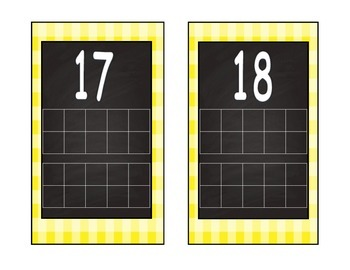 Chalkboard and Gingham Tens frames