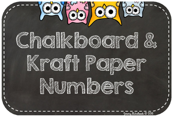 Chalkboard and Kraft Paper Table Numbers