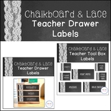 Chalkboard and Lace Teacher Label Pack