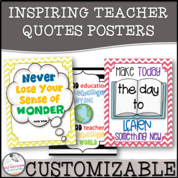 Chalkboard and Lines Inspirational Teacher Quotes