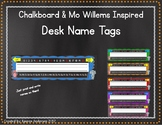 Chalkboard and Mo Willems Inspired Desk Name Tags
