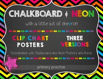 Chalkboard and Neon Clip Chart