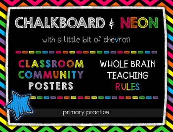 Chalkboard and Neon Posters... by Primary Practice | Teachers Pay ...