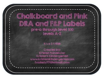 Chalkboard and Pink DRA and F&P Labels