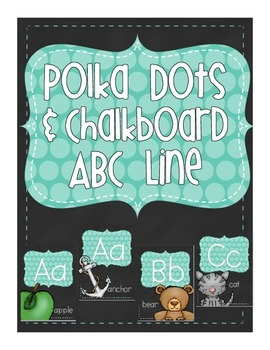 Chalkboard and Polka Dot Alphabet