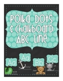 Chalkboard and Polka Dot Alphabet Posters with pictures