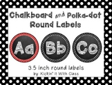 Chalkboard and Polka Dot Circle Alphabet Labels