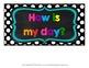 Chalkboard and Polka Dot Clip Chart