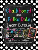 Chalkboard and Polka Dot Decor Bundle