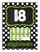 Chalkboard and Polka Dot Number Posters 0-20