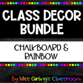 Chalkboard and Rainbow Class Decor BUNDLE