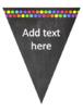 Chalkboard and Rainbow Spot Bunting {Editable!}