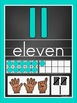 Chalkboard and Teal Number Posters 0-20 and 0-30