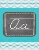 Chalkboard and Turquoise/ Aqua Cursive Letters